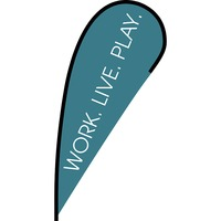 Work Live Play Flex Blade Flag - 12'