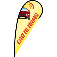 Car Alarms Flex Blade Flag - 12'