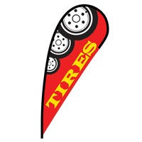 Tires Flex Blade Flag - 12'