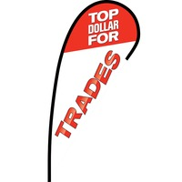 Top Dollar for Trades Flex Blade Flag - 12'