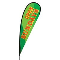 Open Sundays Flex Blade Flag - 15'