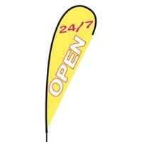 Open 24/7 Flex Blade Flag - 15'