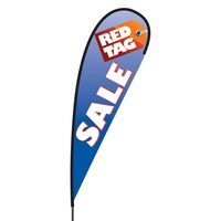 Red Tag Sale Flex Blade Flag - 15'