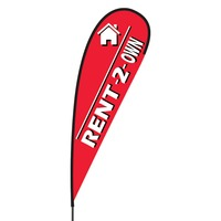 Rent to Own Flex Blade Flag - 15'