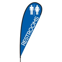 Restrooms Flex Blade Flag - 15'