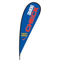 Smog Check Flex Blade Flag - 15'