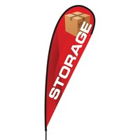 Storage Flex Blade Flag - 15'