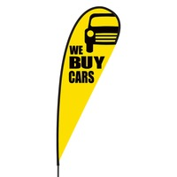 We Buy Used Cars Flex Blade Flag - 15'