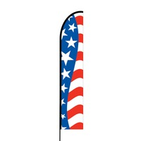American Flag Print Flex Banner EVO Flag Single Sided Print