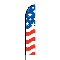 American Flag Print 3 Flex Banner EVO Flag Single Sided Print