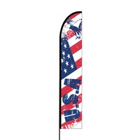 American Flag Print 4 Flex Banner EVO Flag Single Sided Print