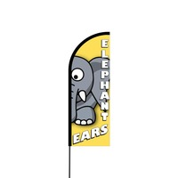 Elephant Ears Flex Banner Flag - 11ft