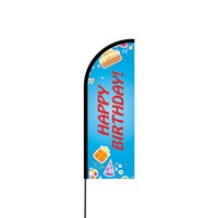 Happy Birthday Flex Banner Flag - 11ft