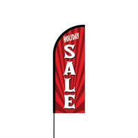 Holiday Sale Flex Banner Flag - 11ft