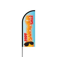 Hot Summer Sale Flex Banner Flag - 11ft