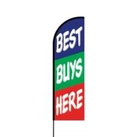 Best Buys Here Flex Banner Flag - 14 (Single Sided)