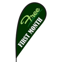 First Month Free Flex Blade Flag - 09' Single Sided
