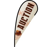 Auction Flex Blade Flag - 12'