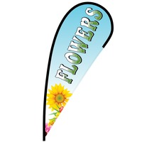 Flowers Flex Blade Flag - 12'