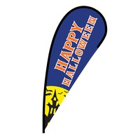 Happy Halloween Flex Blade Flag - 12'