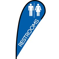 Restrooms Flex Blade Flag - 12'