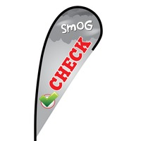 Smog Check Flex Blade Flag - 12'