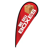 We Sell Boxes Flex Blade Flag - 12'